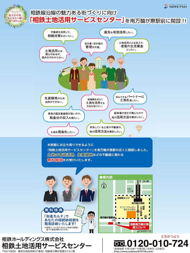 「相鉄土地活用サービスセンター」を南万騎が原駅前に開設!