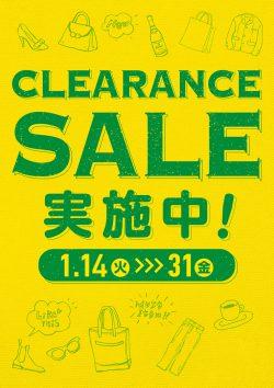 CLEARANCE SALE  1/14(火)~31(金)
